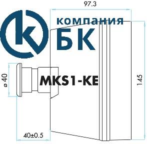 """Габаритные размеры корпуса для автомата защиты двигателя c аварийной кнопкой """"Грибок"""" 40мм"""