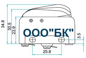 Габаритные размеры выключателя MN2TIP12