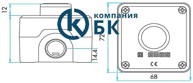 Габаритные размеры поста управления P1C400DK.