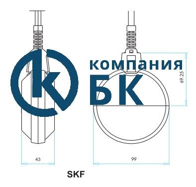 Габаритные размеры поплавкового сигнализатора уровня SKF.