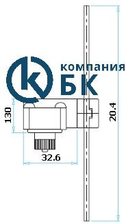 Габаритные размеры консоли выключателя