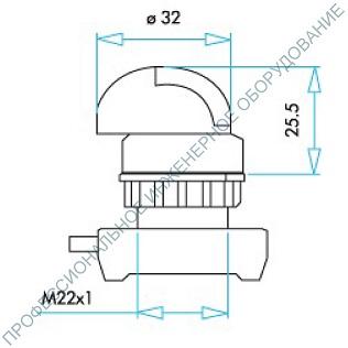 Габаритные размеры головки переключателя мм. EMAS серии (CP) IP65.