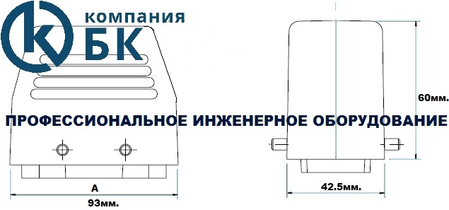 Габаритные размеры промышленных разъемов (EBM16FU и PU34)