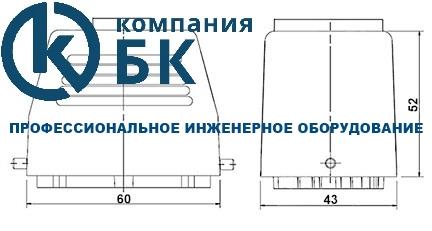 Габаритные размеры промышленных разъемов EMAS (EBM06PU/FU30 и FU/PU32)